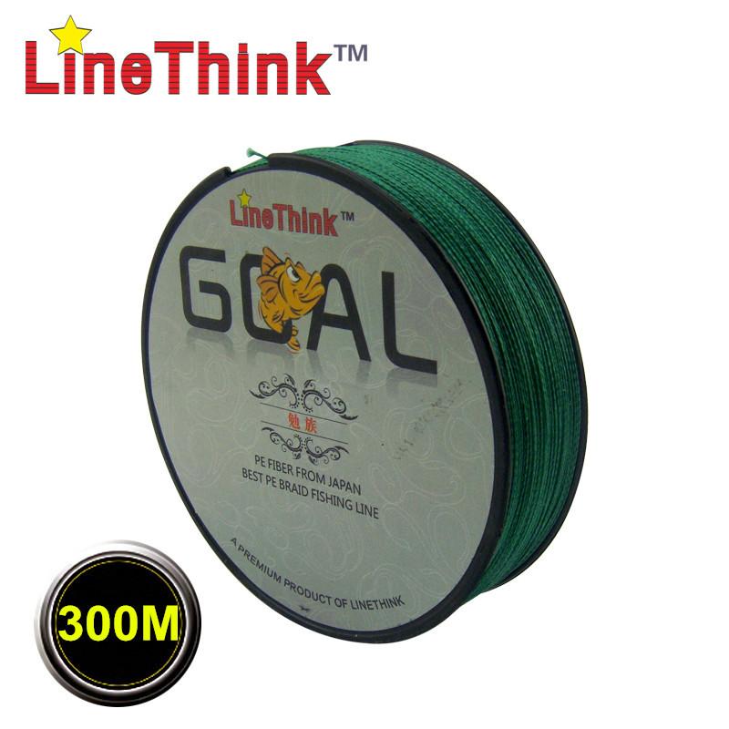 300M Brand LineThink GOAL Japan Multifilament PE Braided Fishing Line 6LB-120LB Free Shipping(China (Mainland))