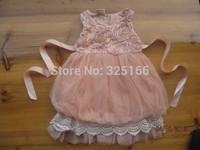 Retail Beautiful Summer Girl Lantern Dress Children Chiffon Flower Princess Dresses 5pcs/lot Most Country Free Shipping