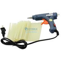 New 50-60Hz 20W Blue Hot Melt Mini Glue Gun + 42 Glue Sticks 110-240V TK0898