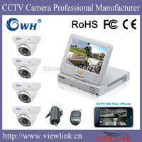 CWH-DR1004/4330MC 4CH indoor DVR sets 4PCS dome camera system 960H DVR System