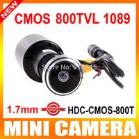 "New Door Eye Hole Mini Camera 1/3"" Color CMOS PC1089 800TVL PEEPHOLE DOORVIEW Mirror Color Camera 170 Degree WIDE ANGLE LENS"