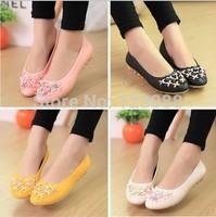 HOT! 2014 new women shoes casual flats shoes sweet flowers baletki women flats sapatos femininos free shipping