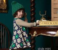 2014 Summer Small Fresh Daisy Flower Dress 100% Cotton Female Child Princess Dress Tank Children's Clothing