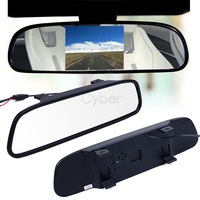 "2014 Car Monitor 4.3"" Screen TFT LCD Color Rearview Mirror Monitor Reverse Car Rear View Backup Camera DVD 12V 19462 b012"