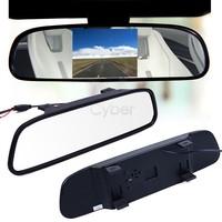 "2014 Car Monitor 4.3"" Screen TFT LCD Color Rearview Mirror Monitor Reverse Car Rear View Backup Camera DVD 12V 19462 b012"