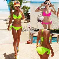 2014 New Hot!!! Women's Sexy Padded Bra Bikini Suit Swimsuit Swimwear Bathing Bandeau Bikini Set Hot Style SV000948 B002