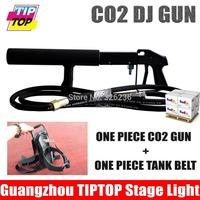 One Piece Co2 DJ Gun+One Piece Belts DJ Light Pistol CO2 Jet Machine Shoot Up 3-5 Meters Led Stage Effect Hose 3Meter For Free