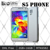 DHL EMS Free 1920*1080 Screen HDC S5 I9600 Phone MTK6592 Octa Core 2GB Ram 16GB ROM MTK6582 Quad core Smart Mobile Phone