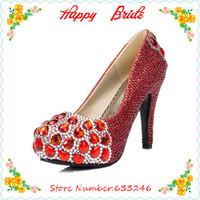 Custom Made Prom Heels Wedding Shoes Women High Heels Crystal High Heel Shoes Woman Platforms Silver Rhinestone Pplatform Pumps