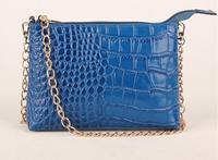 Special offer! 2014 newest genuine leather crocodile women shoulder bag messenger bag Day clutch handbag free shipping