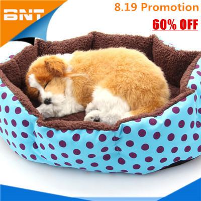1 usd for homless pets, 100% Cotton Pet Dog Puppy Cat Soft Fleece Cozy Warm Nest Bed House