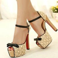 women shoes high heel pump platform heels tacones big size heel free shipping 2014 hot sale