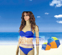 Free shipping 2014 Fashion Brand for woman Sexy bikini with PAD swimsuits Ladies swimwear beachwear bikini set 10 color KM6100