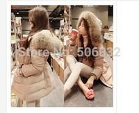2014 free shipping women down jacket coat raccoon fur collar collar high quality long coat thick coat down jacket True collars