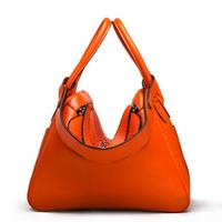 Fashion women's handbag 2014 women's genuine leather handbag shoulder bag orange female bags