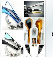Free shipping Motorcycle Aluminum CNC mirror Universal For all motorcycles Kawasaki-Suzuki-Honda-Yamaha