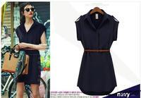 New 2014 hot sale European&American super star style short sleeve loose T-shirt dress