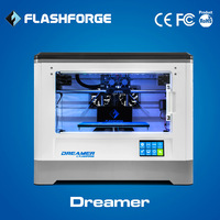 Flashforge newest 3d printer,Dreamer,dual-extruder,business grade,  Fully Enclosed Chamber, W/2 Free Spools, free shipping.