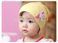 wholesale 5pcs new 2014 lovely cartoon rabbit baby hats kids caps girls Skullies & Beanies children accessories Free Shipping