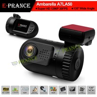 E-prance New Mini 0805 Mini 0803 Ambarella A7 LA50 Car DVR Camera Recorder Dashboard 2304*1296 30FPS Optional GPS/Internal 8GB