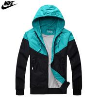 2014 new NIKE spring Autumn new men's sports jacket hooded jacket Men Fashion Thin Windbreaker Zipper Coats Free shipping!
