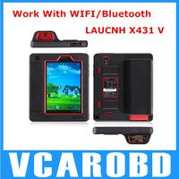 100% original L aunch X431 V (X431 Pro) Wifi/Bluetooth Tablet Full System Diagnostic Tool x-431 v DHL fast shipping