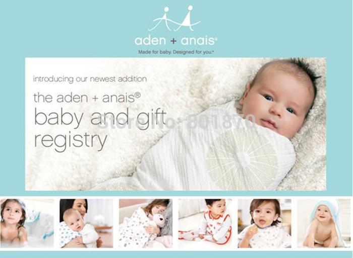 Free shipping aden+anais baby blanket printed stat newbron swaddle baby bath wraps wholesale bath wraps baby muslin blanket(China (Mainland))