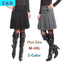 2014 New Retail 100% Cotton woolen skirt Gary Women's Fan Art Retro Large Size Skirts Women's Autumn And Winter Fashion skirt
