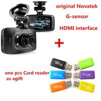 1Pcs Free Gift+100% Original GS8000L Novatek 2.7 inch 140 degree 25fps Car DVR 1920*1080P Vehicle Camera Voice Recorder GS8000
