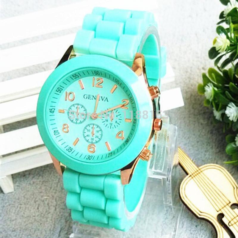 Free Shipping 2014 fashion casual Geneva Silicone quartz watch women Jelly Sport wristwatch,Woman dress brand watches,12colors(China (Mainland))
