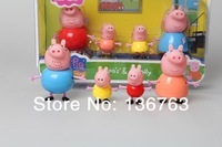 4PCS/LOT Peppa Pig Family Toys DOLL,Peppa Pig Family action figure doll,Peppa Pig party Classic toys doll
