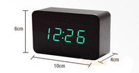 2014 New Alarm Clock Led Display,Battery/USB power Voice Sounds Control Digital clock for wholesale
