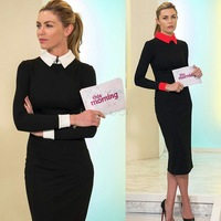 2014 New Hot Selling Elegant Lady Dress Cute Brief Office Dress S To XXXL Fashion Lady Spring Autumn Winter Dresses #3 SV001986