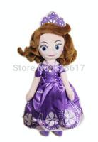 Free shipping Sofia the First toys boneca princess sofia doll mini plush toys 32cm kids soft toys princesses dolls for girls