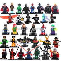 High Quality mini figures super hero Iron man superman batman spiderman Avengers 33pcs/lot Building Blocks Toy Gift Free Ship