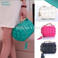 Women Messenger Bag Fashion Pu Leather Multifunctional Stereoscopic Shoulder Bags With Tassel Dot Women Handbag Clutch Bag