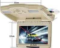 9'' Car Overhead DVD Player,FM/IR,IR,USB,SD,MP3,MP4 Roof Mount Flip Down Monitor,800x480
