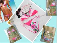 2014 New Bikini Swimwear women dress Fashion Flag Design Free Shipping Swimsuit Brand Style Women Love
