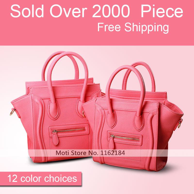 Moti 12 couleurs 2014 neuf de haute qualité en cuir sac à main sac à bandoulière designer les femmes, smiley face sac à main de luxe classique portefeuilles. 148