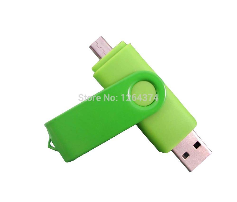New Swivel 64GB USB Flash Drive Pen Drive OTG external storage Pendrive Smart Phone Memory Card Stick free shippng(China (Mainland))