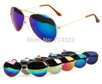 2015 girls boys kids sunglasses children sun glasses Child coating Reflective aviator sunglass Mirror Sunglasses Free shipping