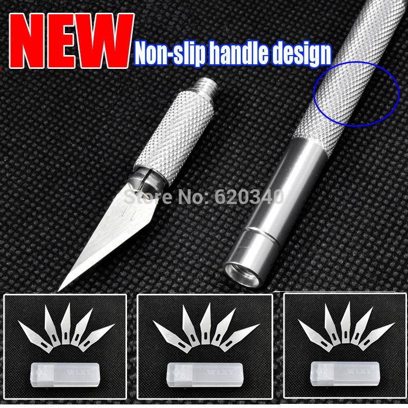 Metallgriff bastelmesser/Schneideplotter Messer/Cuttermesser/Stift cutter+ 15 stück klinge messer für pcb Handy Reparatur heimwerkerutensilien