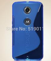For Google Nexus 6 case,Anti-skid S Line soft tpu skin Cover Case For Motorola Nexus 6