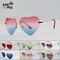 Good Quality Heart Shaped Sunglasses Women Brand Designer oculos de coracao vintage Ladies Sun Glasses gafas feminino