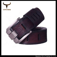 HOT!100% good quality cowskin qenuine luxury leather men's belts for men,strap male metal 100-130cm pin buckle free shipping
