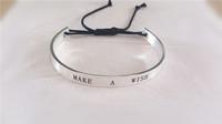 $10 free shipping fashion Stainless Steel Bracelets Charm make a wish bangle bracelet