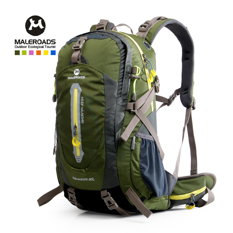 Maleroads Hiking Backpack 40L 50L waterproof outdoor camping mochila travel rucksack sport mountain climbing bag pack women&men(China (Mainland))