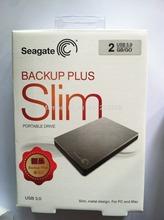 "Free Shipping Wholesale-  BACKUP PLUS slim USB 3.0 hdd 2TB 2.5"" Portable External Hard Disk silver color(China (Mainland))"