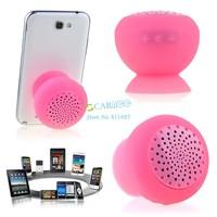 Wireless Bluetooth Mini Speaker Mushroom Waterproof Silicon Suction Cup Handsfree Holder For Iphone Samsung B003 CB023940