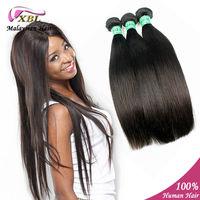 Unprocessed Malaysian Virgin Straight Hair Extension Natural black Human Hair Weave XBL Hair Products No Shedding 3 pcs/lot